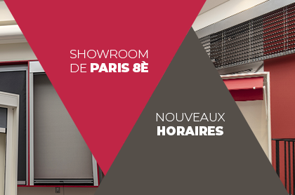 Nouveaux horaires pour le showroom CybStores de Paris 8ème.