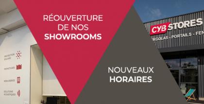 Réouverture de tous nos showrooms