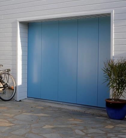 porte de garage latérale acier